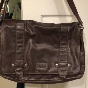Relic brown satchel